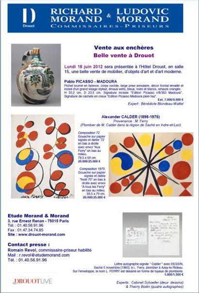 Calder et Picasso à Drouot