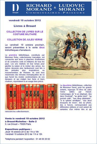 Livres à Drouot le 19 octobre 2012
