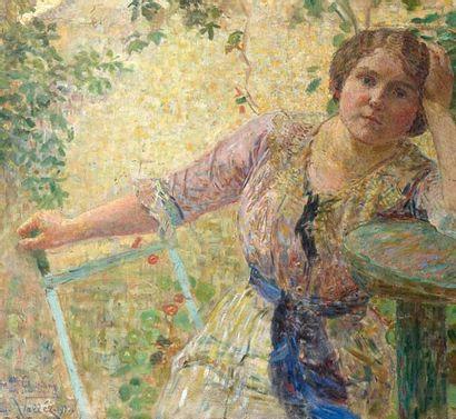 Ludovic VALLEE (1864-1939). Portrait de Mademoiselle Chastang.