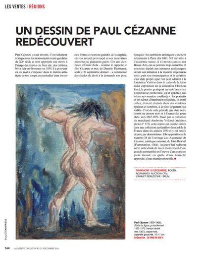 UN DESSIN DE PAUL CÉZANNE REDÉCOUVERT