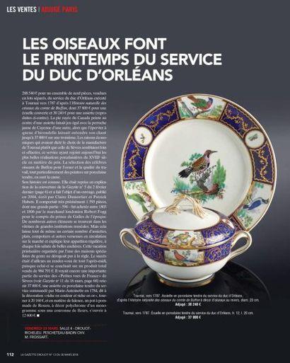GAZETTE DROUOT : LES OISEAUX FONT LE PRINTEMPS DU SERVICE DU DUC D'ORLÉANS