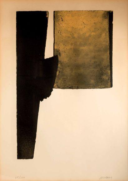 PIERRE SOULAGES (né en 1919) - Eau-forte XXXI, 1974
