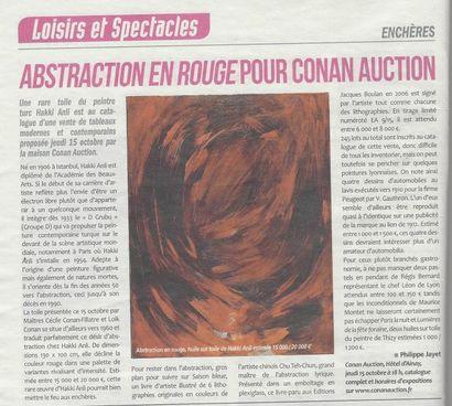 REVUE DE PRESSE - ABSTRACTION EN ROUGE POUR CONAN AUCTION