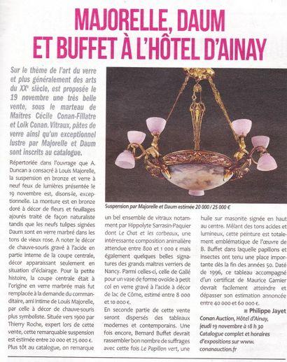 Majorelle, Daum et Buffet à l'Hôtel d'Ainay