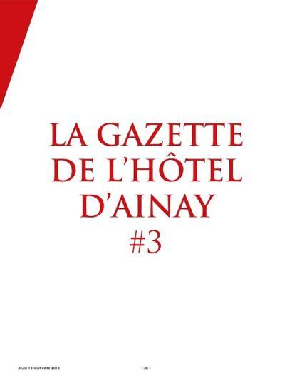 La Gazette de l'Hôtel d'Ainay #3