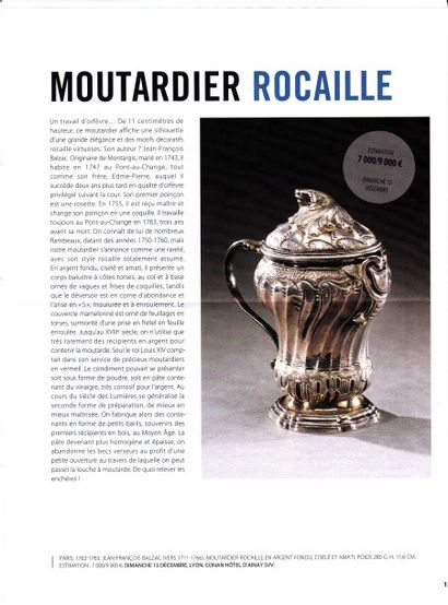 Rare Moutardier rocaille