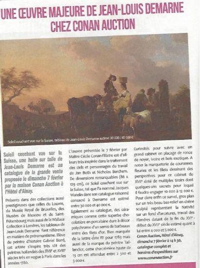 Une oeuvre majeure de Jean Louis Demarne chez Conan Hôtel d'Ainay