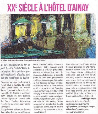 XXème siècle à L'Hôtel d'Ainay