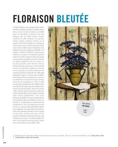 Floraison bleutée