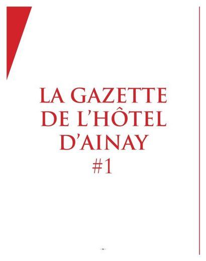 La Gazette de l'Hôtel d'Ainay #1