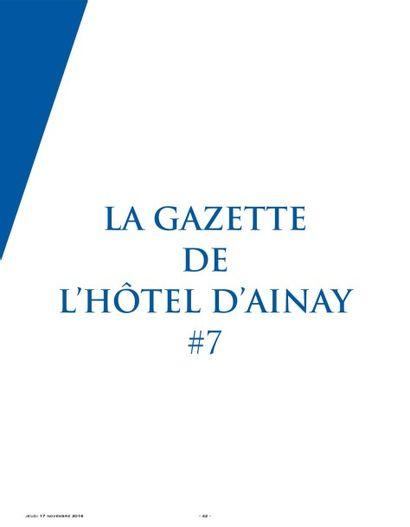LA GAZETTE DE L'HOTEL D'AINAY #7