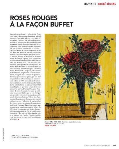 ROSES ROUGES A LA FACON DE BUFFET