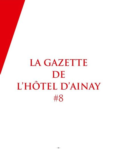LA GAZETTE DE L'HOTEL D'AINAY #8