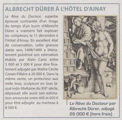 ALBRECHT DURER A L'HOTEL D'AINAY