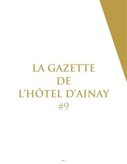 LA GAZETTE DE L'HOTEL D'AINAY #9