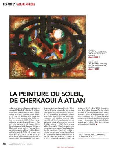 LA PEINTURE DU SOLEIL, DE CHERKAOUI A ATLAN