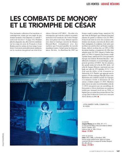 LES COMBATS DE MONORY ET LE TRIOMPHE DE CESAR