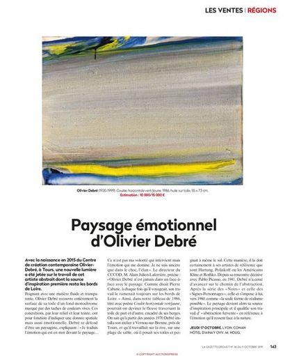 PAYSAGE EMOTIONNEL D'OLIVIER DEBRE