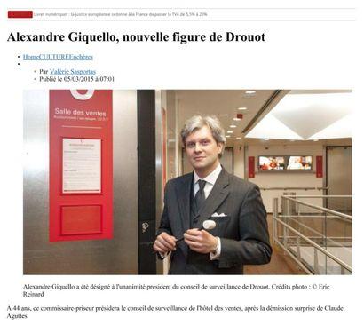 Alexandre Giquello, nouvelle figure de Drouot