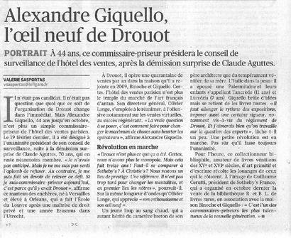 Alexandre Giquello L'oeil neuf de Drouot