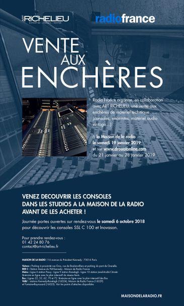Consoles des Studios de RADIO FRANCE