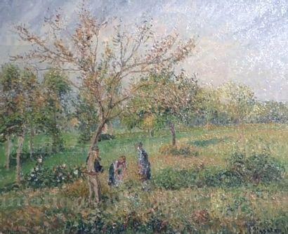 Camille Pissarro, Dans le pré en automne à Éragny