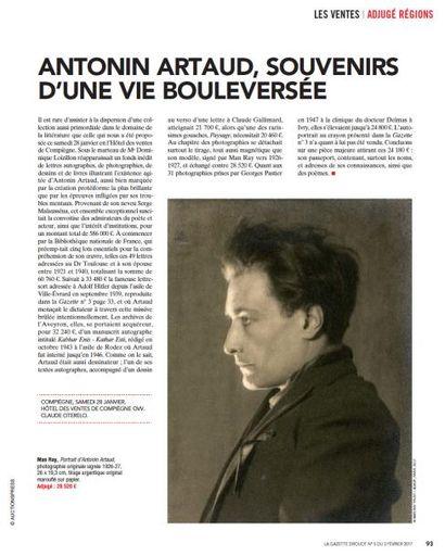 Revue de presse - Antonin Artaud (1896-1948)