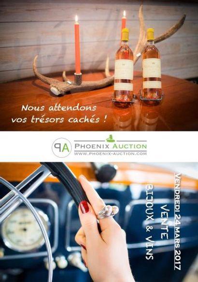 Vente publique ce 24 mars de bijoux & vins en préparation