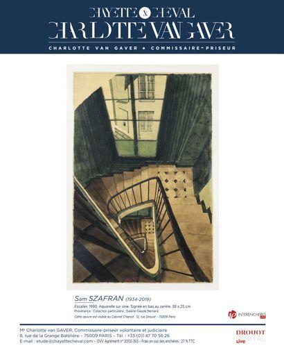 UN ESCALIER DE SAM SZAFRAN, parmi deux oeuvres de l'artiste, en vente le 1er octobre !