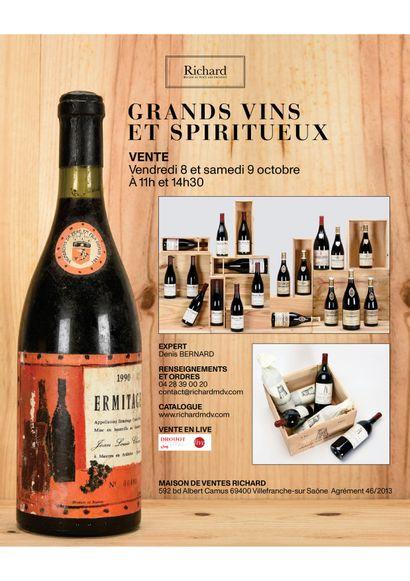 Grands vins et spiritueux I deux jours de vente 8 et 9 octobre