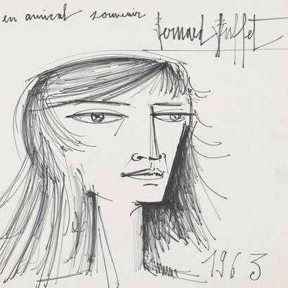Bernard Buffet, portrait de femme