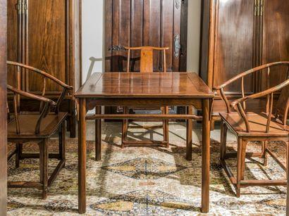 Exceptionnel ensemble mobilier en bois de Huang Huali - Chine - Epoque Ming - Adjugé 320 677 €