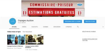 Nouveau ! Copages Auction est sur Youtube !