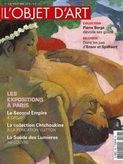 L'OBJET D'ART DE NOVEMBRE 2016