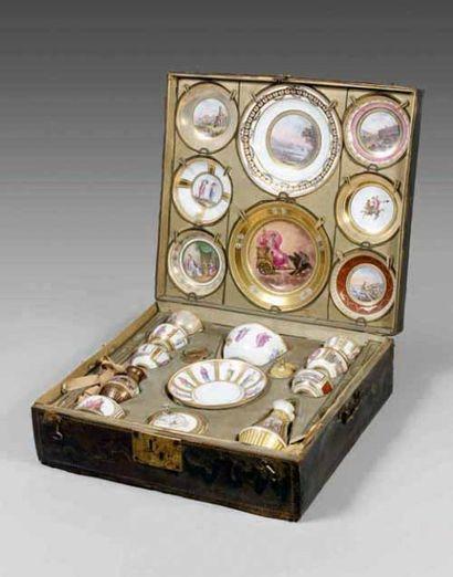 Déjeuner en porcelaine de NAPLES, vers 1790-1806