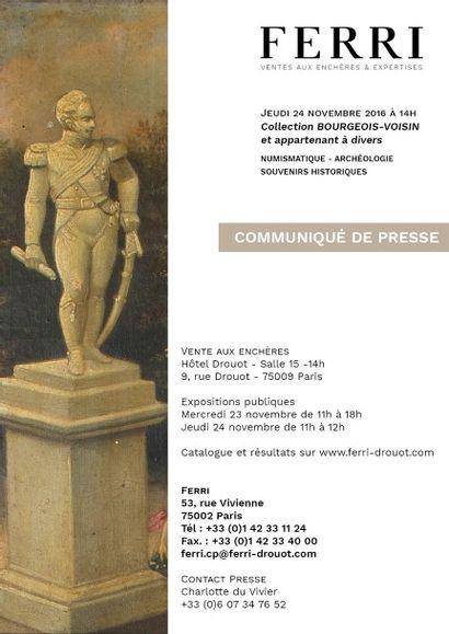 COMMUNIQUE DE PRESSE - COLLECTION BOURGEOIS-VOISIN