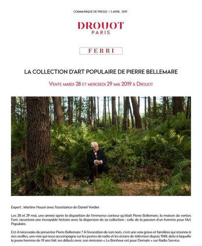 COMMUNIQUE DE PRESSE - LA COLLECTION D'ART POPULAIRE DE PIERRE BELLEMARE