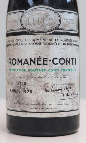 Romanée Conti de la maison Leroy Monopole 1975 Adjugé 7 500.00 €
