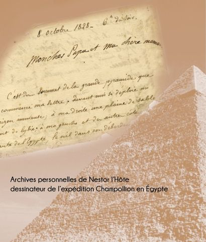 Des archives inédites de Nestor L'Hôte, dessinateur pour Champollion, dispersées à Drouot