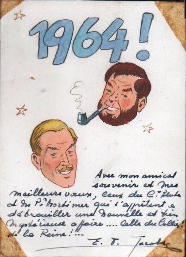 Carte de voeux Blake et Mortimer
