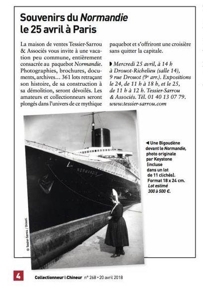 Souvenirs du Normandie le 25 avril à Paris