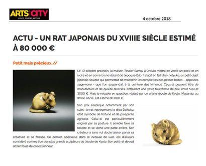 un rat japonais du XVIIIe siècle estimé à 80 000 €