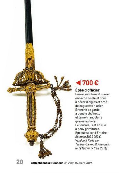 Épée d'officier