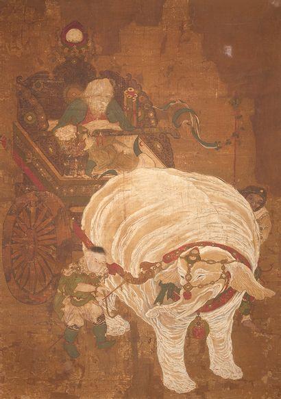 éléphant blanc richement paré