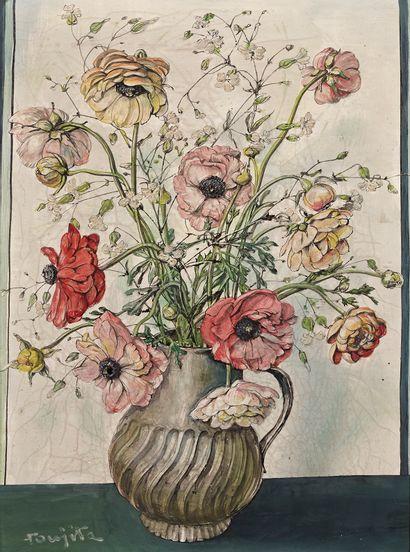 Portrait d'une jeune fille en fleurs...
