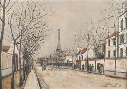 A group of 14 paintings by Maurice Utrillo