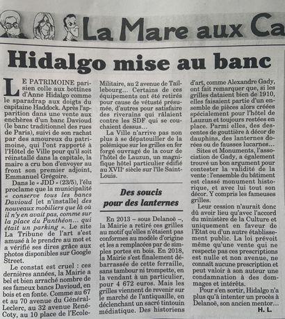 ► Hidalgo mise au banc