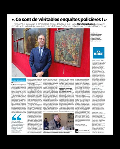 ► Val-de-Marne : Maître Lucien va traîner son flair imparable des salles de ventes à la télévision