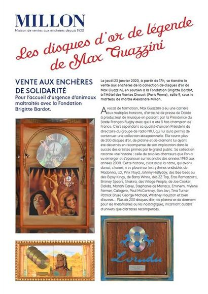Les disques d'or de légende de Max Guazzini