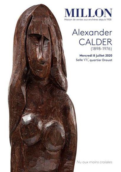 Alexandre CALDER (1898 - 1976) Nu aux mains croisées, 1927